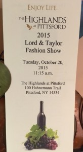 Fall Fashion Show Brochure Oct 2015